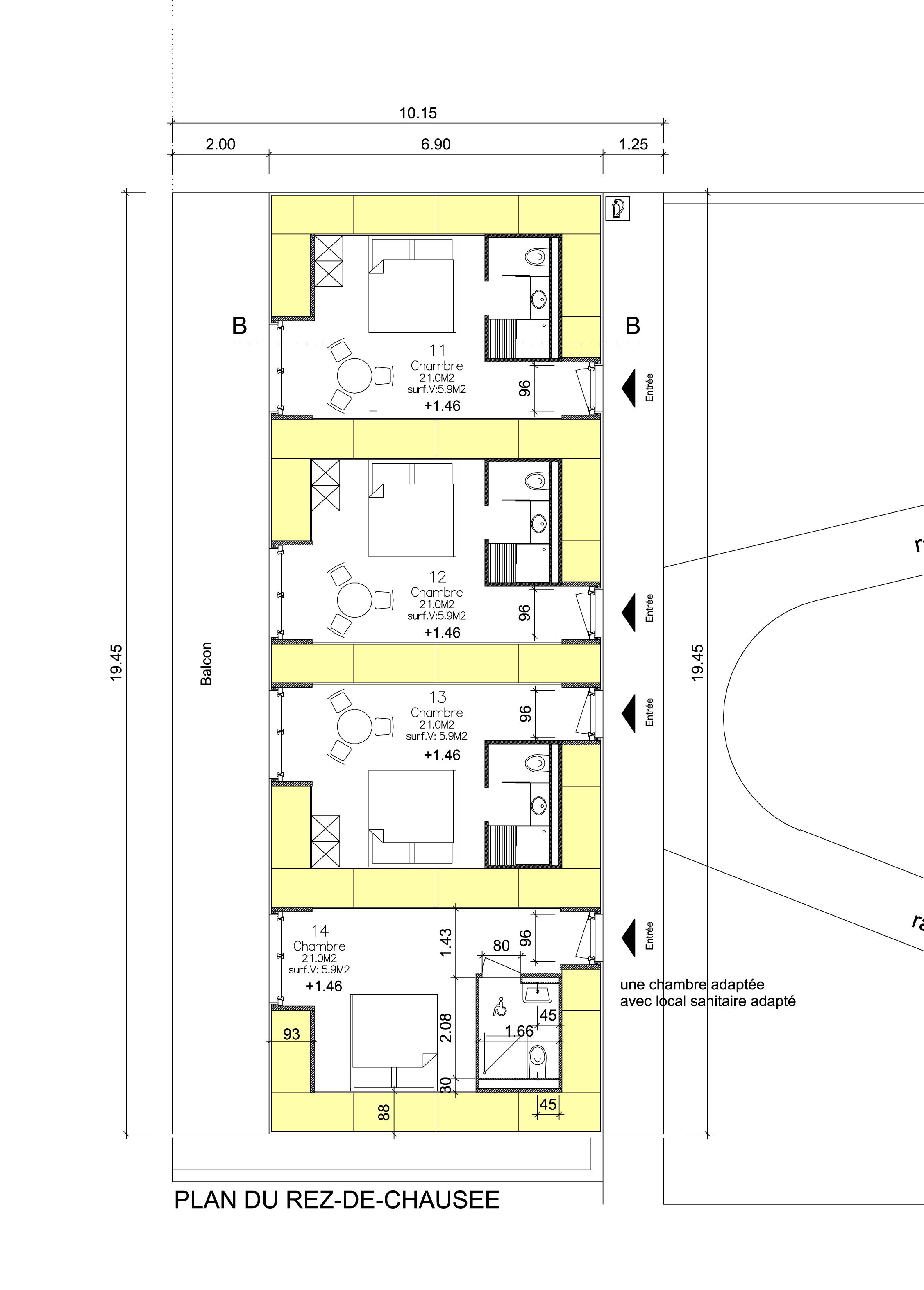 Die grundrisse des g stehauses maya boutique hotel der for Motel one zimmer grundriss